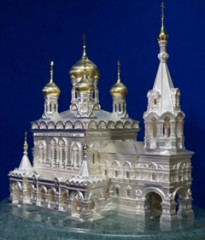 "Model of Shipka Memorial Church made of gold and silver will be first presented in Kirillo-Belozersky Museum-Reserve during International Action ""Night at the Museum"""